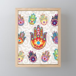 Flowery Hamsa Framed Mini Art Print