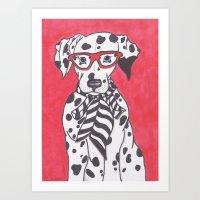 Funky Pup Art Print