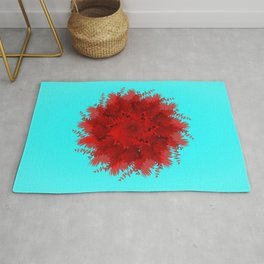 Flower-blown carnations. Memory Colors, school, cottages Rug