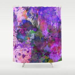 Lilac Chaos - Abstract Shower Curtain