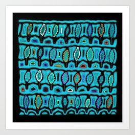 Dancing Sea Turtles Art Print