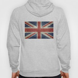 UK Flag, Dark grunge 3:5 scale Hoody