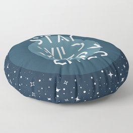 Stay Wild Moon Child Blue Floor Pillow