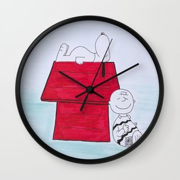 Charlie Brown and Snoopy Wall Clock