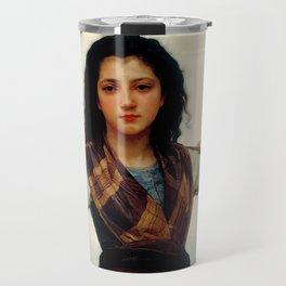 """William-Adolphe Bouguereau """"The Little Shepherdess"""" Travel Mug"""