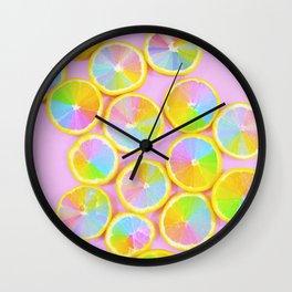 Unicorn Fruit Wall Clock