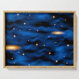 Space nebula background. Serving Tray