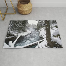 The Wild McKenzie River Waterfall - Nature Photography Rug