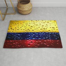 Flag of Columbia - Raindrops Rug