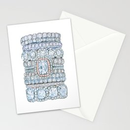 Pink diamonds rings Stationery Cards