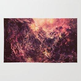 Galaxy Mountains : Mauve Burgundy Rug