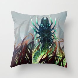Silver-Tongued Demon Throw Pillow