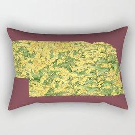 Nebraska in Flowers Rectangular Pillow