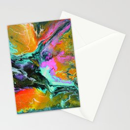 Abstract ORANGE Stationery Cards