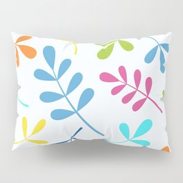 Multicolored Assorted Leaf Silhouettes Pillow Sham