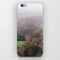 switzerland iPhone & iPod Skins featuring FOGGY SWITZERLAND by Megan Robinson