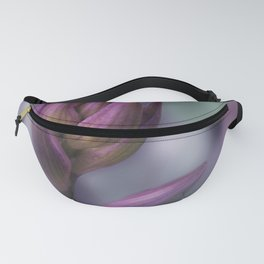 Hosta Flower Bud Purple And Green Fanny Pack