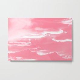 cloudy burning sky reacpw Metal Print