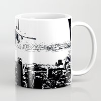 airplane Mugs featuring airplane by Anand Brai
