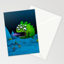 Giant Mutant Fish Stationery Cards
