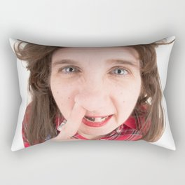 Fisheye Redneck Nose Picker Rectangular Pillow