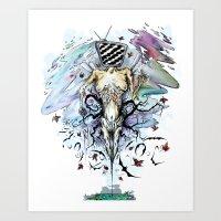 obey Art Prints featuring Obey by KelevraArt