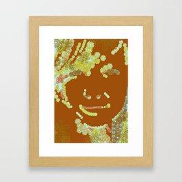 flower face Framed Art Print