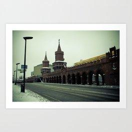 Oberbaumbrücke, Berlin Art Print