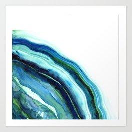 River Agate Moon  Art Print