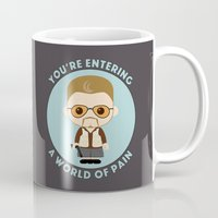 the big lebowski Mugs featuring Big Lebowski - Walter Superdeformed by Cloudsfactory