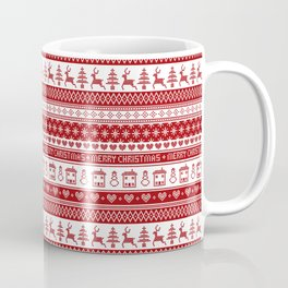 Nordic fair isle Christmas pattern Coffee Mug