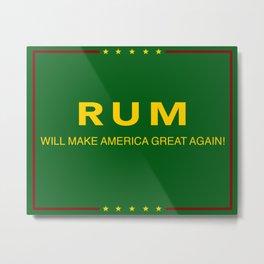 Rum Metal Print