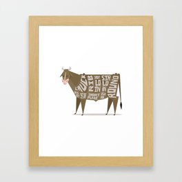 Beef Cuts Framed Art Print