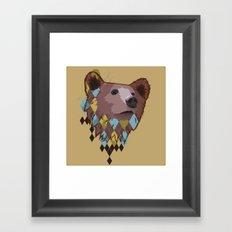 Argyle Bear Framed Art Print