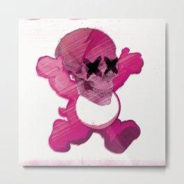 Care Skully Bear Metal Print