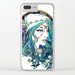 Sailor Aluminium Siren - Sailor Moon Fanart Clear iPhone Case