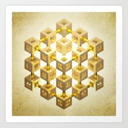 Isometrica Art Print