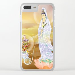 Water-sprinkling Kuan Yin Clear iPhone Case
