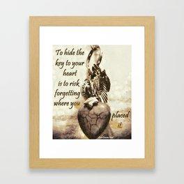 Key To Your Heart Framed Art Print