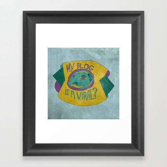 MAKE IT GO VIRUS Framed Art Print