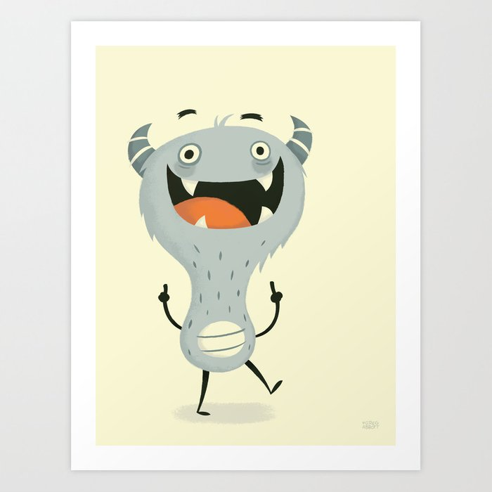 Mindless Happiness Art Print