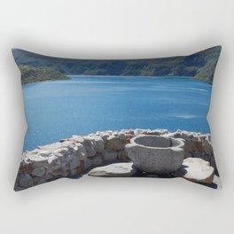 Cuicocha Lake Rectangular Pillow