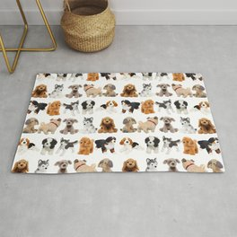 Too Many Puppies! Rug