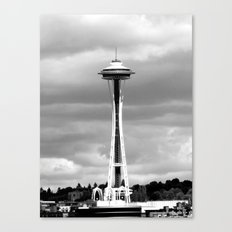 Seattle in Black and White Canvas Print