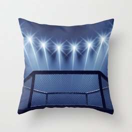 MMA arena Throw Pillow
