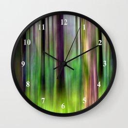 Motion Blur Trees in Green Wall Clock