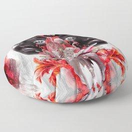 Celestial Tangerine - Fluffy Dreams Floor Pillow