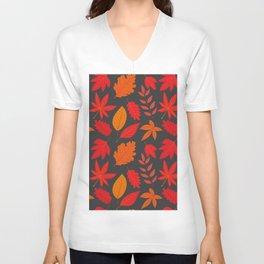 Red autumn leaves Unisex V-Neck