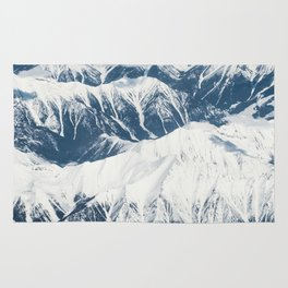 MOUNTAIN - SNOW - CAPS - SNOW Rug