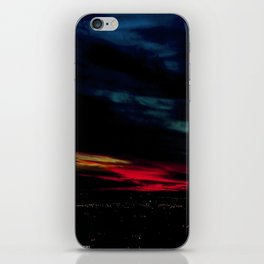 When I Look to The West: A December Sunset #1 (Chicago Sunrise/Sunset Collection) iPhone Skin